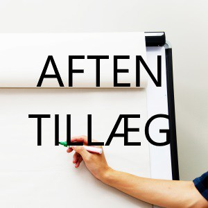 aftentillæg til supervision